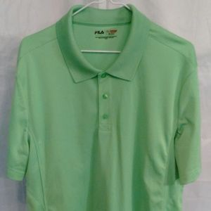 Fila Athletic Polo Style Sport Lime Shirt (L)